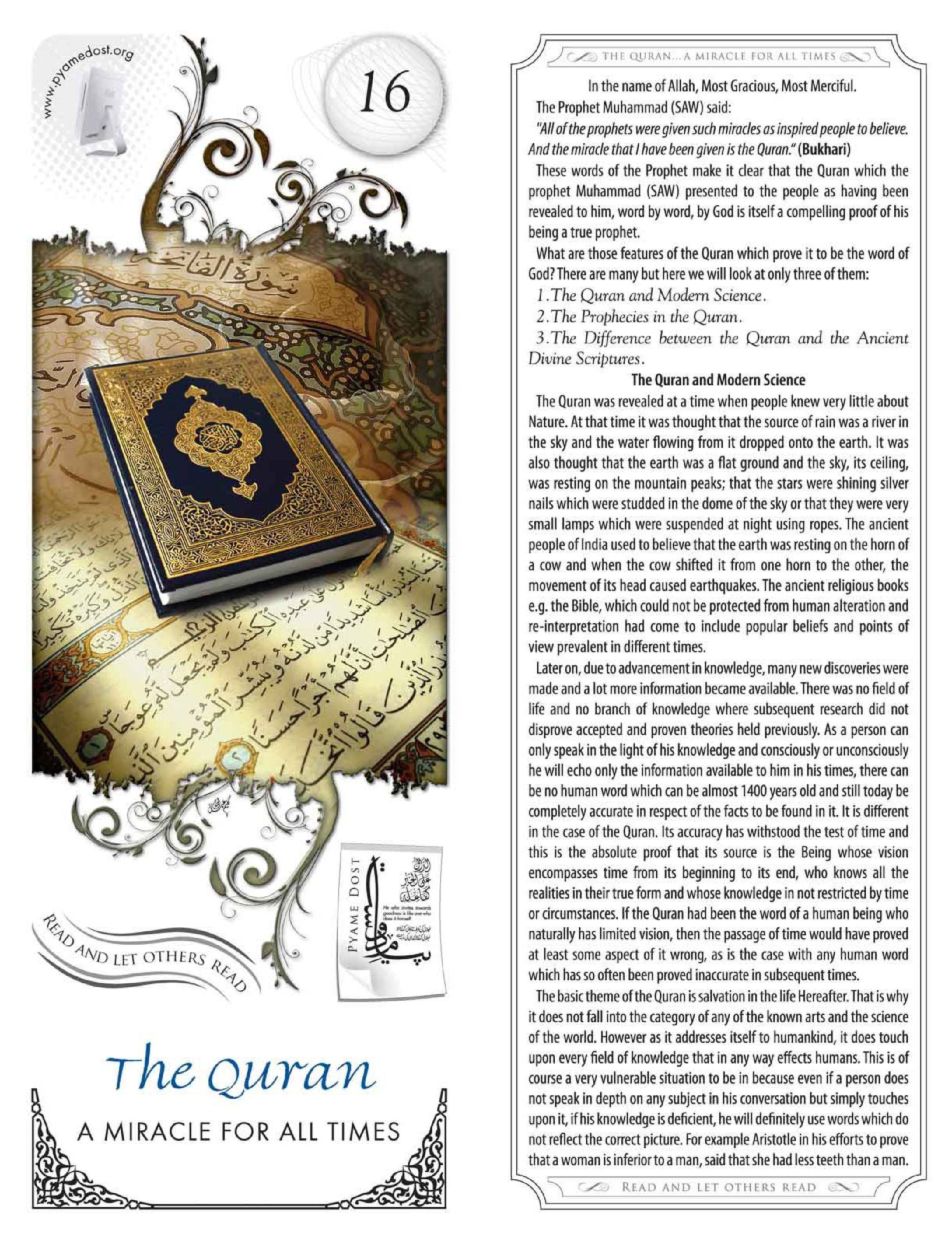 QURAN A Miracle To Last Till The End